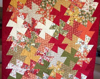 "Quilts for a Cause Autumn Splendor Quilt 52""X60"""