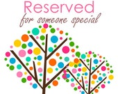 Reserved for custom quiet book for Sarah