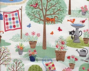 Makower UK Crafty Cats Garden Cats - Half Yard