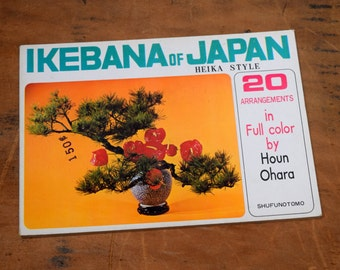 Ikebana of Japan Flower Arranging Card Book, Heika Style, 20 Arrangements Full Color, by Houn Ohara