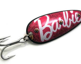 Barbie Style Doll Copper and Tin Can Original Recyclure Metal Fishing Lure
