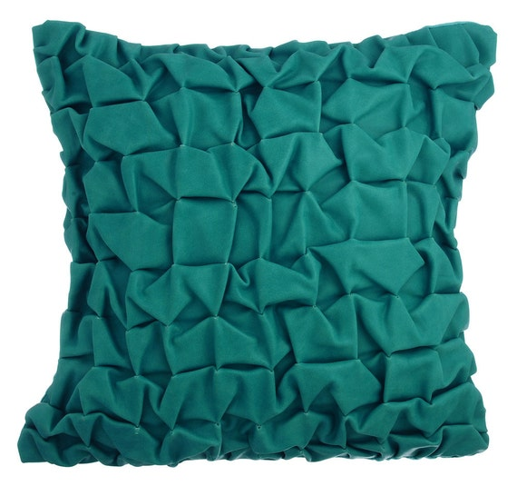 Thehomecentric Teal Decorative Throw Pillow Covers
