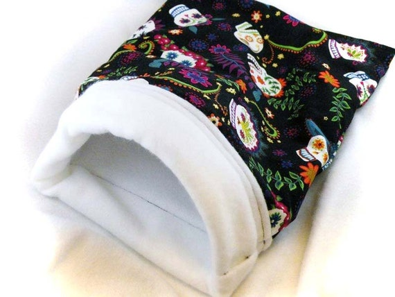 Sugar Skulls Little Critter Plush Snuggle Sleep Sack Bed for Your Favorite Little Pet