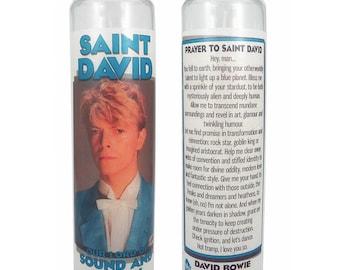 Saint David Bowie prayer candle