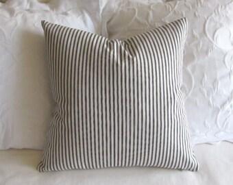 FRENCH TICKING pillow cover black white 16x16 18x18 20x20 22x22 24x24 26x26