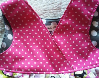 Toddler Girls Spring dress Jumper, toddler Dress, Polka Dot Ruffle, twirly dress,  jumper 2T 3T 4T and 5 polka dot