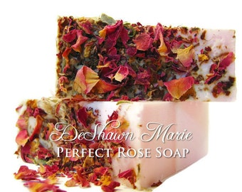 SALE SOAP- Perfect Rose Soap - Vegan Soap - Handmade Soap- Soap Gift - Wedding Favors - Soap Favors - Wholesale soap - Mother's Day Gift