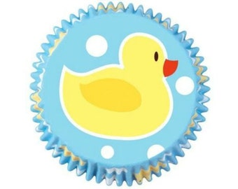 100 Mini Ducky Cupcake Liners Baking Cup Baking Supplies