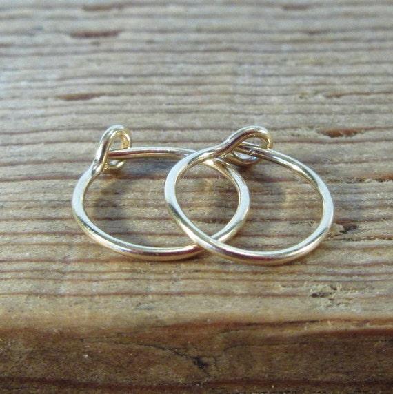 Hoop Earrings Gold Plain - Mens Hoop Earrings, Sleeper Hoops, Huggie Hoops, Gold Hoop Earrings, Plain Gold Hoops, Everyday Hoops, Minimal