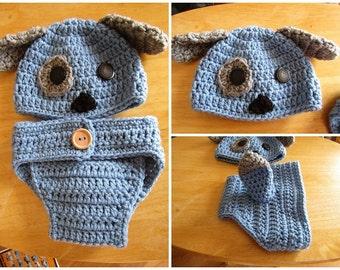 Custom Crochet Puppy Photo Prop FREE SHIPPING