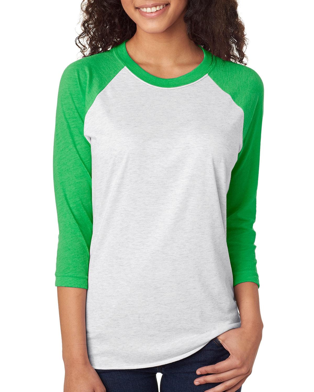 Wholesale 3 4 Sleeve Raglan Shirts Green Purple With Drop