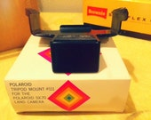 Polaroid SX-70 Accessories Tripod Mount #111 and Accessory Holder #113 in Original Boxes
