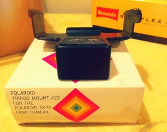 Polaroid SX-70 Accessories Tripod Mount #111 and Accessory Holder #113 in Original Boxes