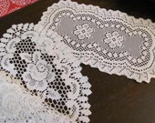 Fabulous 5 White Lace Rose  Doilies ,Centerpieces, Table Toppers, Accent Pieces