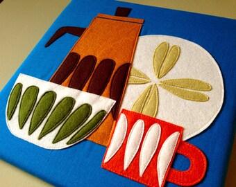 Tea/Sahara/You  Textile WallHanging