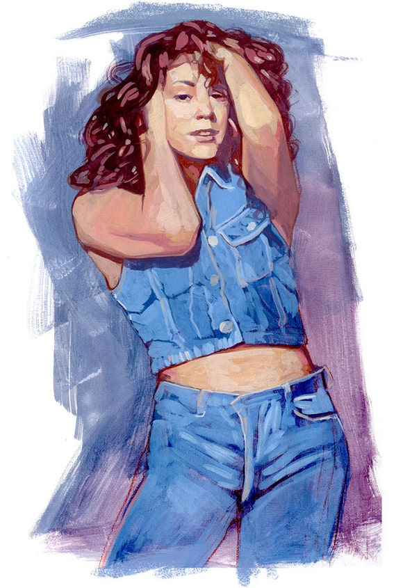 Mariah Carey - Original Gouache Painting
