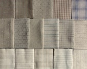 Japanese Taupe fabrics - 16 medium fat eighths