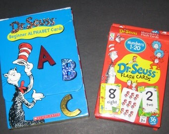 Dr, Seuss  Alphabet and Number Flash Cards for Scrapbooking, Cardmaking, etc.