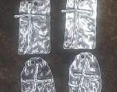Hammered Metal Cross Charms