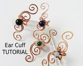 Summer Sale - 10% off - Swirly Ear Cuff - Wire Wrapped Jewelry Making TUTORIAL