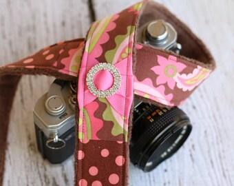 Paisley Camera Strap. Padded Camera Strap. dSLR Camera Strap. Cute Camera Strap. Camera Neck Strap. Camera Strap. Digital Camera Strap.