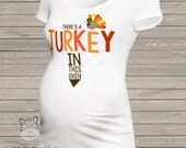 turkey in the oven thanksgiving maternity top long or short sleeve maternity or non-maternity TOMTS