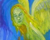 Angel painting - Angel - Original painting on canvas - Angel art - Art - Original art - Acrylic painting