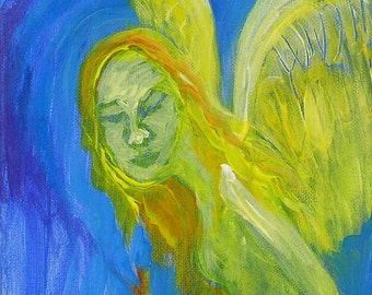 Angel painting - Angel - Original painting on canvas - Angel art - Art - Original art - Acrylic painting