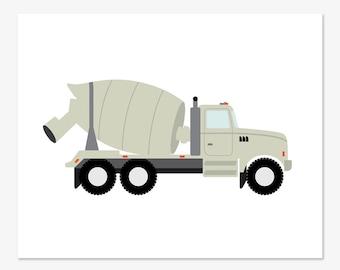 Cement Truck Print