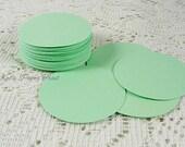 50 Paper die cut circles 1.5 inch Circles Mini green