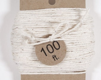 Natural White String, Off White Bakers Twine, Natural Twine, Packaging Twine, 25, 50 or 100 ft.