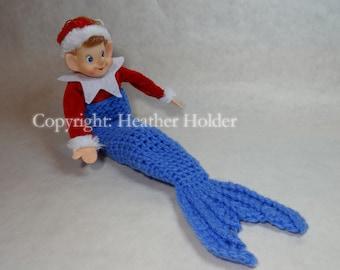 Christmas Elf Mermaid Tail Pattern