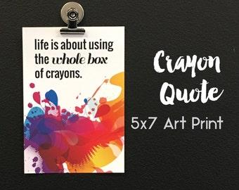 Motivational Quote Print, Inspirational Quote Art Print, Last one- Sale, Office Decor // 1 print set // 5x7 // OS-26