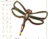 pendant tutorial / pattern Flylieah the dragonfly – PDF instruction for personal use only