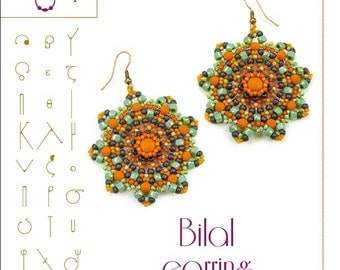 beading pattern earring tutorial / pattern Bilal earring...PDF instruction for personal use only