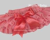Coral Sassy Pants Original Ruffle Diaper Cover Bloomers