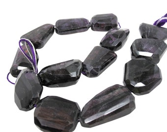 AAA Sugilite Gemstone Beads, 17mm x 22mm, Natural African Sugilite, Faceted Nuggets, SKU 4382