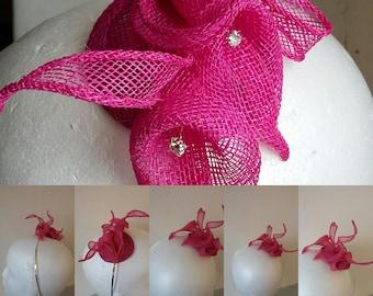 Hot Pink Calla lily Fascinator