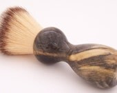 Buckeye Burl Wood 22mm Modern Synthetic Hair Shaving Brush Handle (Handmade in USA) B1 - Retirement Gift - Executive Gift - Gift for Him