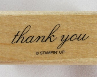 Stampin Up! - Thank You Rubber Stamp - RS110