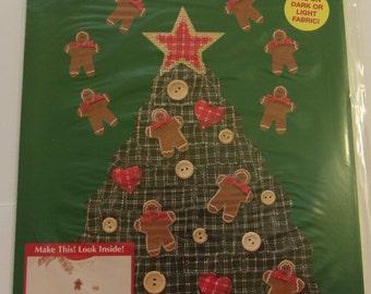 1995 Plaid Enterprises Inc HOMESPUN CHRISTMAS TREE Christmas Iron-On Transfer
