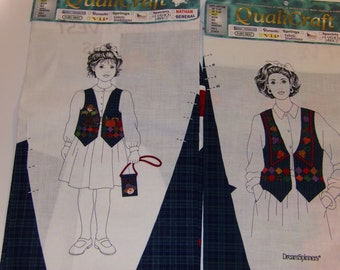 V.I.P. Cranston DreamSpinners Matching HARVEST Vest Fabric Panel For Adult & Child Uncut