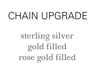 Upgrade Your Necklace or Bracelet Chain - Sterling Silver Chain, Gold Filled Chain, Rose Gold Filled Chain, Necklace, Bracelet