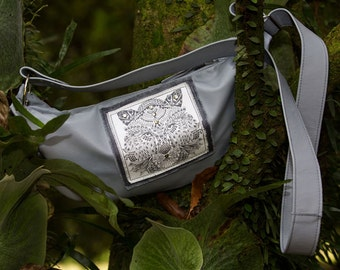 Bengal Tiger Indie Grey Leather Handbag