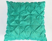 Mint  ruched pintuck pillow cover 26X26 inch pillow.  2 IN STOCK