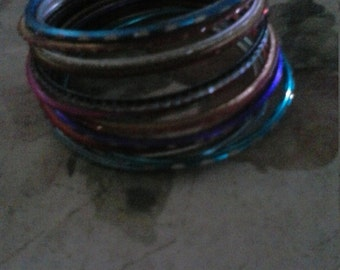 Large Lot Bangle Bracelets  Wear or Upcycle Sari Bracelets