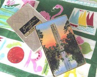 Vintage Florida  playing cards Bok Tower Singing Tower Lake Wales tourist 1940s souvenir Floridiana kitsch