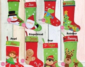 Personalized christmas stocking , STEPHEN JOSEPH , christmas tree stocking , family christmas stockings , kids stocking , monogram stocking
