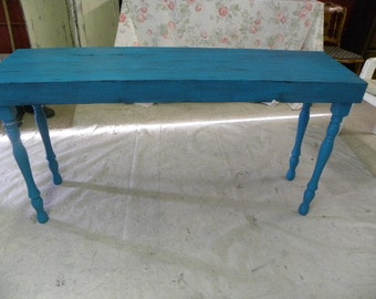 Hand Made Sofa Table Entry Table Hand Painted Rustic Table