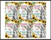 "3""x4"" INSTANT DOWNLOAD Olaf Frozen Fever Thank You Labels (Digital File)"